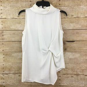 Zara Basic White Sleeveless Top